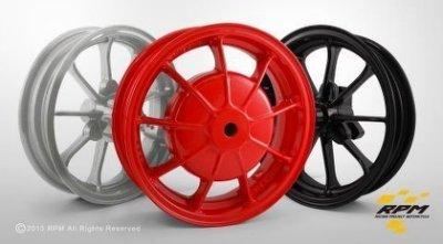 駿馬車業 RPM GTR/GTR Aero 一組3800付氣嘴 (10吋) 9爪輪框 紅/銀/黑(中和)