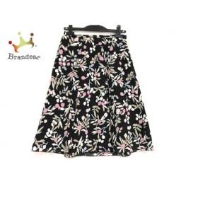 トゥービーシック TO BE CHIC ロングスカート サイズ40 M レディース 美品 黒×ベージュ×マルチ   スペシャル特価 20190923