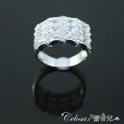【Celosa珠寶】閃閃亮麗晶鑽戒