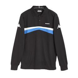 KAPPA義大利時尚型男KOOLDRY吸濕排汗POLO衫 黑 義大利藍A466-4722-8