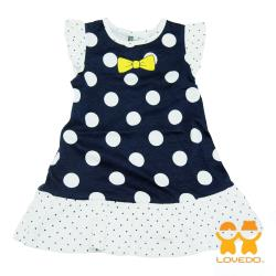 【LOVEDO-艾唯多童裝】俏麗公主 可愛圓點小洋裝(深藍) GSH13125