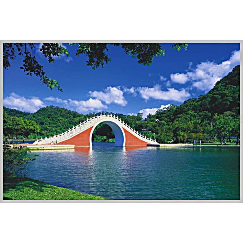 台灣之美1000片拼圖/台北市-大湖公園