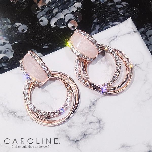 Caroline 韓國熱賣造型時尚耳環Bling Bling 優雅性感 耳環70089