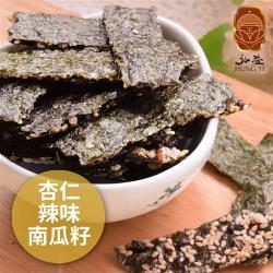 [弘益傳香世家]海苔脆片-杏仁+辣味+南瓜子(40g/包,共三包)