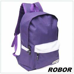 韓系型男 ROBOR簡約休閒風簡約後背包(紫色)
