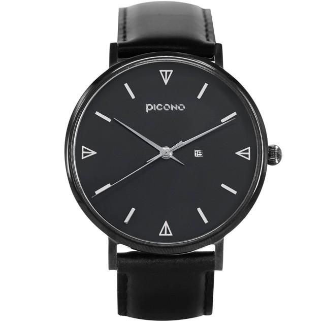 PICONO Amour 系列黑色真皮手錶 / BU-8301