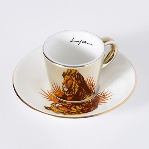 Luycho 韓國 鏡面倒影杯 咖啡杯 (濃縮款、小款) _ 獅子
