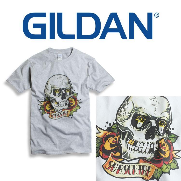 GILDAN 760C大骷髏 短tee 寬鬆衣服 短袖衣服 衣服 T恤 短T 素T 寬鬆短袖 短袖 短袖衣服