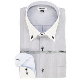 【GRAND-BACK:トップス】【大きいサイズ】レノマオム/renoma HOMME 形態安定クレリックボタンダウン長袖ビジネスドレスシャツ