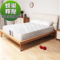 H&D KELLY舒柔蜂巢式獨立筒床墊單人加大3.5尺