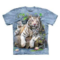【摩達客】(預購)美國進口The Mountain 白虎家族 純棉環保短袖T恤