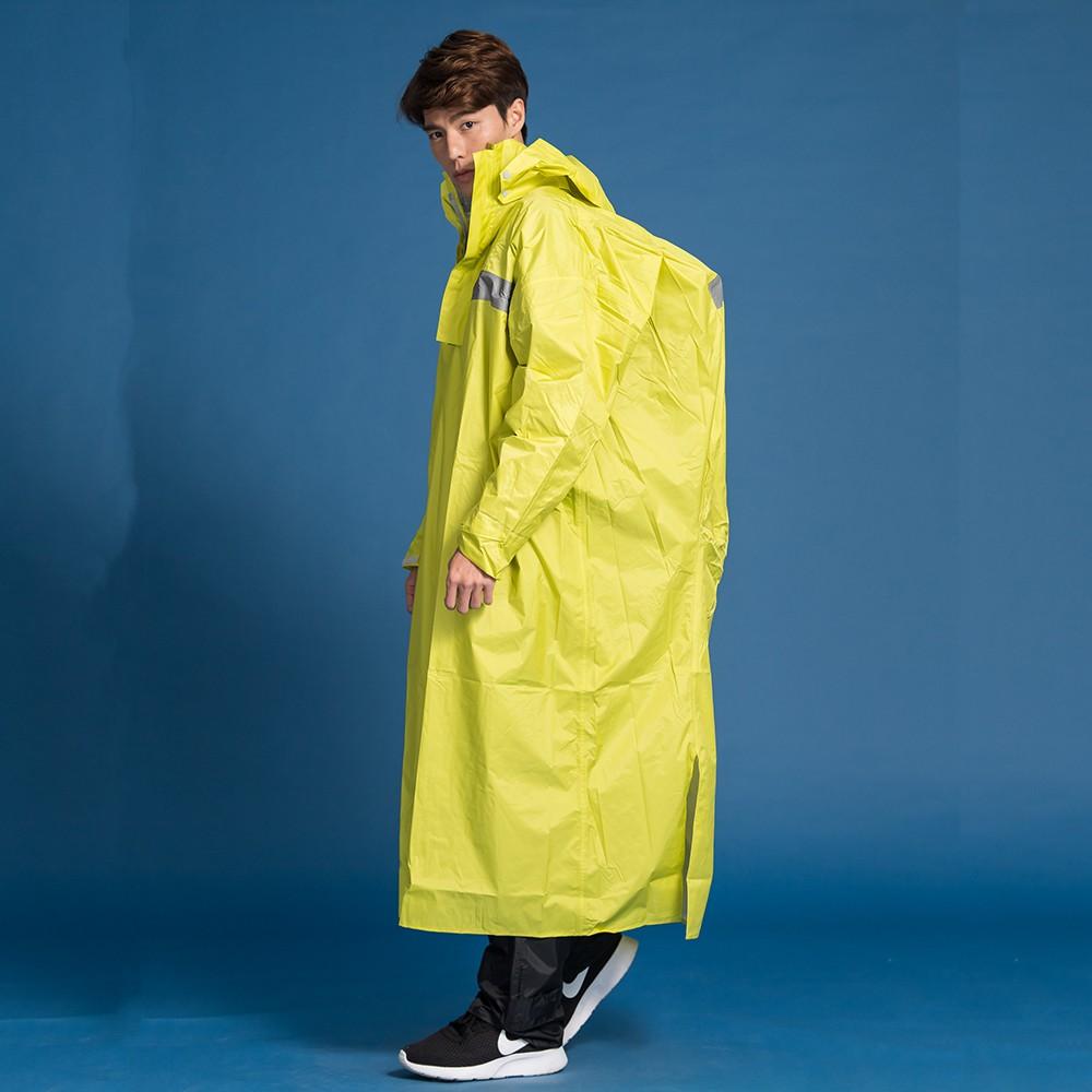 BrightDay藏衫背包太空連身式風雨衣-黃