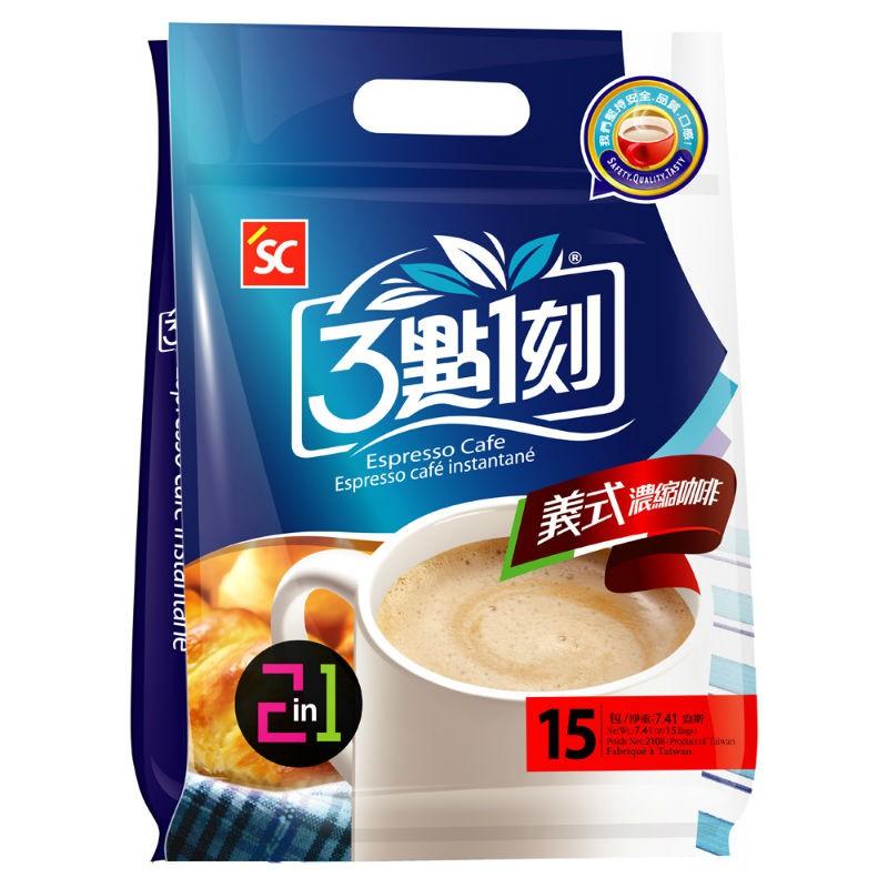【3點1刻】義式濃縮咖啡2合1 (15入/袋)