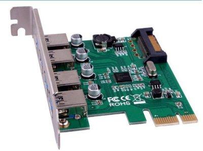 盒裝 PCI-E 轉 USB 3.0 NEC 4埠 最新 μPD720201晶片 xhci REV 1.0 傳輸5GB高級固態電容