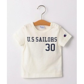 (SHIPS KIDS/シップス キッズ)CHAMPION:【SHIPS KIDS 30th別注】フットボールTEE 2(80-90cm)/レディース ホワイト