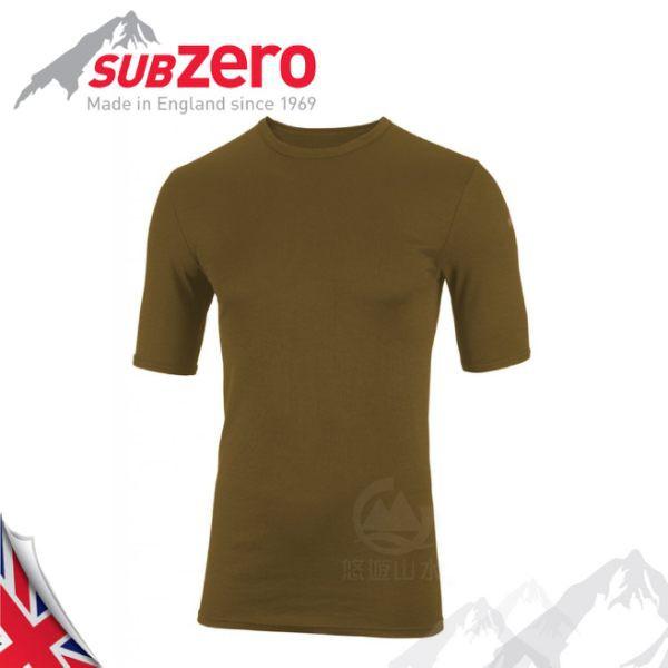 【Sub Zero 英國 Factor1 短袖排汗衣《卡其》】Factor 1 Base/內層衣/運動衣/防曬/悠遊山水