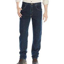 Wrangler 2017男時尚藍哥休閒深調藍色牛仔褲(預購)
