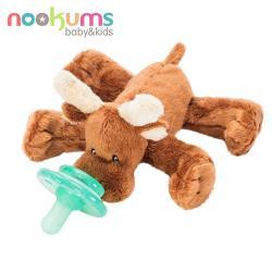 【美國nookums】寶寶可愛造型安撫奶嘴/玩偶-小麋鹿