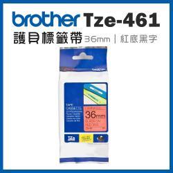 Brother TZe-461 護貝標籤帶 ( 36mm 紅底黑字 )