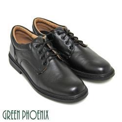 GREEN PHOENIX 八孔綁帶式圓頭標準學生鞋皮鞋(男鞋)N-16835
