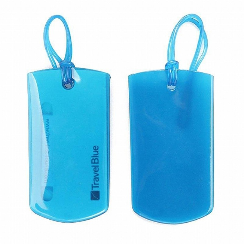 TravelBlue 英國藍旅旅行配件 JELLY 果凍行李掛牌(2入/組) 藍色(TB016-BLU)