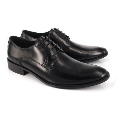 【創意者鞋坊】品味男鞋 率性風格壓紋綁帶皮鞋-黑/ 男-原價3780元