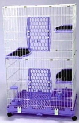 【優比寵物】610-L3Y(附全配件)歐式精緻豪華(4層+3跳板)貓籠/寵物籠(附贈全配件) /抽取式底盤/台灣製造