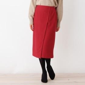 [マルイ]【セール】ウールブレンドラップナロースカート/オペークドットクリップ(OPAQUE. CLIP)