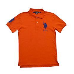 Ralph Lauren 經典戰馬短袖POLO衫-橘