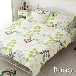 BUHO (森活慢遊) 雙人加大三件式100%純棉床包組
