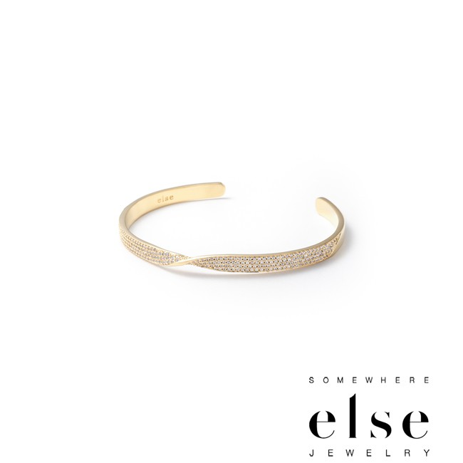 【SOMEWHERE ELSE】BRINK Twist Double Pave Cuff手環