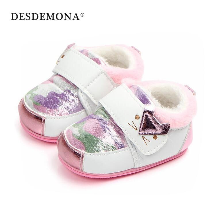 母嬰 新款嬰幼童嬰兒學步鞋 寶寶鞋 嬰兒鞋 魔術貼膠底迷彩小貓嬰兒鞋 0-1歲軟底防滑學步鞋