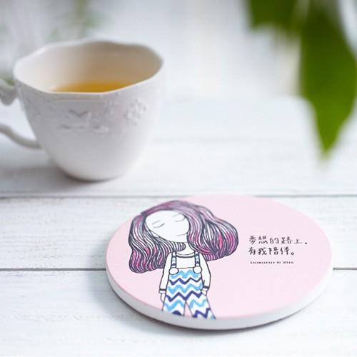 Dorothy陶瓷吸水杯墊-粉紅