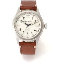 JACK MASON JACK MASON ジャックメイソン 腕時計 JM-A101-201(AVIATION) 腕時計,ホワイト