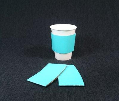 1000個/箱【馬卡藍 瓦楞紙杯套】藍色杯套 藍杯套 咖啡杯套 防燙杯套 隔熱杯套 瓦楞杯套 紙套