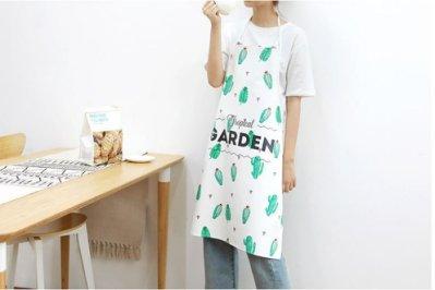 北歐風韓版圍裙防油清潔圍裙廚房家居防水圍裙家居清潔