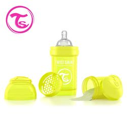 任-【Twistshake】時尚彩虹奶瓶-星光黃180ml / 奶嘴口徑0.3mm