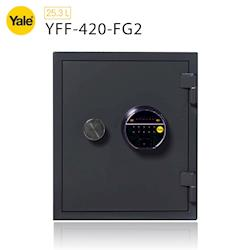 耶魯 Yale指紋密碼觸控防火款保險箱/櫃_(YFF-420-FG2)