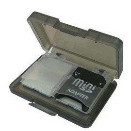 小巧迷人!!攜帶便利易可攜 4卡入記憶卡保存盒【質感黑】