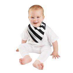 【Mum 2 Mum】雙面時尚造型口水巾圍兜-斑馬/黑