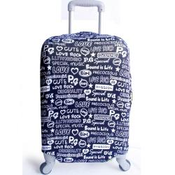 時尚字母行李箱防塵亮彩保護套(18-22吋適用)