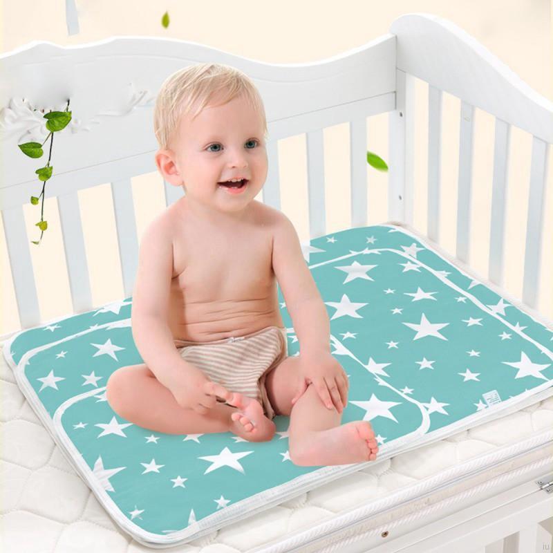 爆款新款嬰兒隔尿透氣尿布濕寶寶純棉卡通防水隔尿墊【IU貝嬰屋】