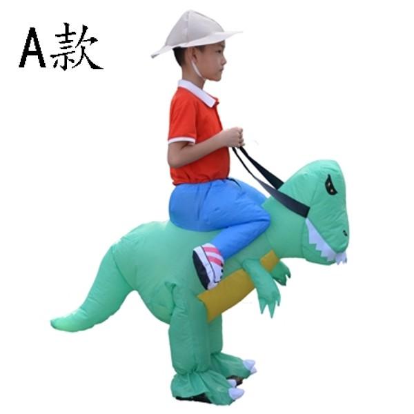 5Cgo充氣服裝兒童小孩恐龍天馬衣服抖音網紅同款搞怪行走表演裝坐騎褲75-125CM坐騎派對熱舞566532713110