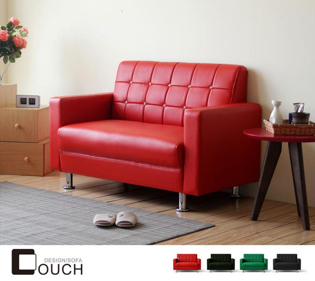 【COUCH】巧克雙人座皮沙發(四色)