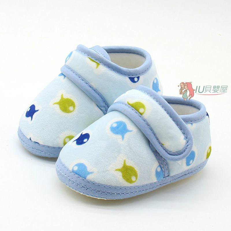 棉寶寶防滑點膠學步襪 時尚韓版嬰兒地板鞋【IU貝嬰屋】