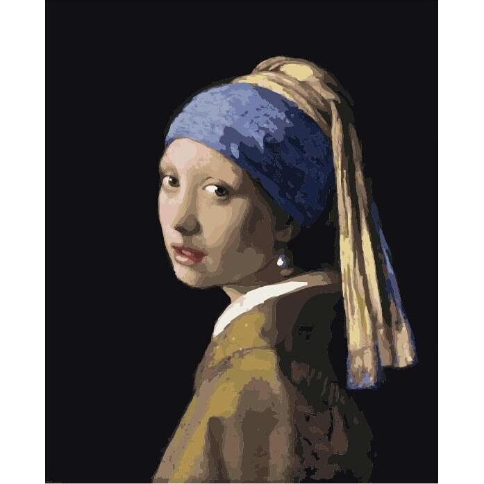 ArtLife 藝術生活 現貨 DIY 數字 油畫 DT003 維梅爾 戴珍珠耳環的少女 40X50cm
