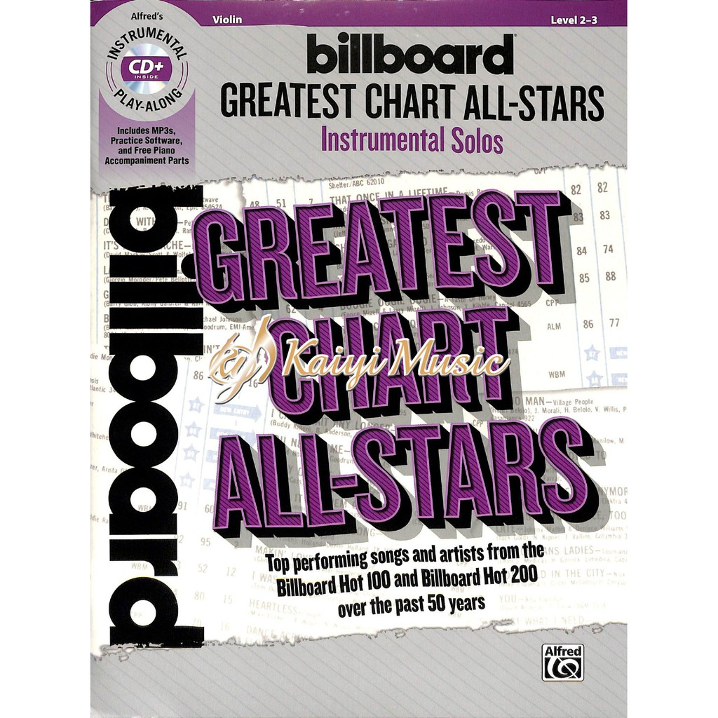 【Kaiyi Music】Billboard greatest chart all-stars for violin