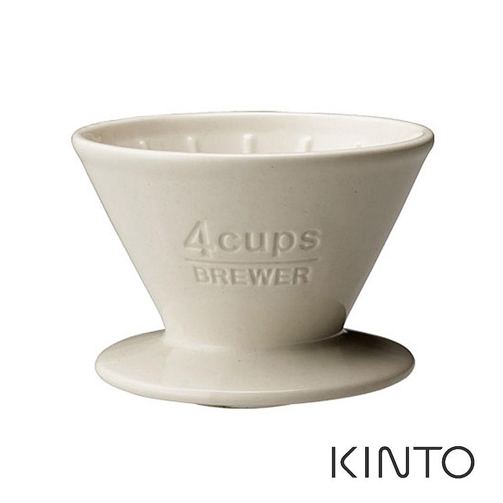 【日本KINTO】SCS陶瓷濾杯4杯(白/灰/金屬黑)《WUZ屋子》咖啡器皿 濾茶