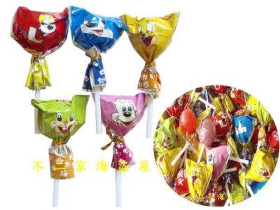 糖趣派對】超取699免運-卡通棒棒糖--300g75元--綜合水果味--辦活動.糖果分享.交換禮物
