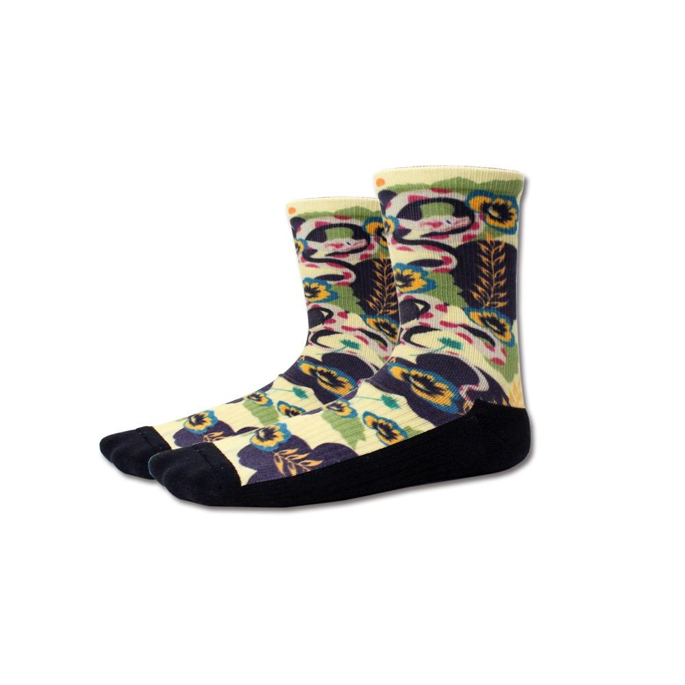 AREX SPORT 咖啡紗3D科技襪(小創襪)-龜殼花
